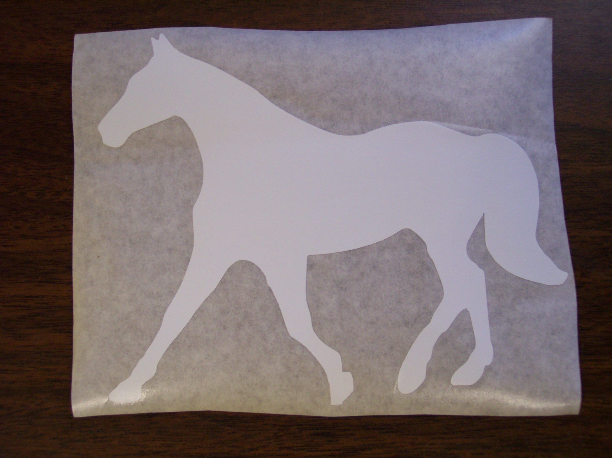Fox Trotter Horse Decal Pair