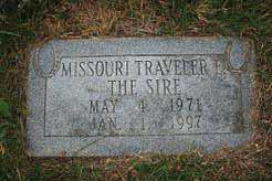 Missouri Traveler is buried north of the front arena.  Photo: Jody Styron