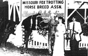 Prince Charger, a chestnut stallion owned and shown by Don Freemen of Mansfield, Missouri, is the 1984 World Grand Champion Model Horse